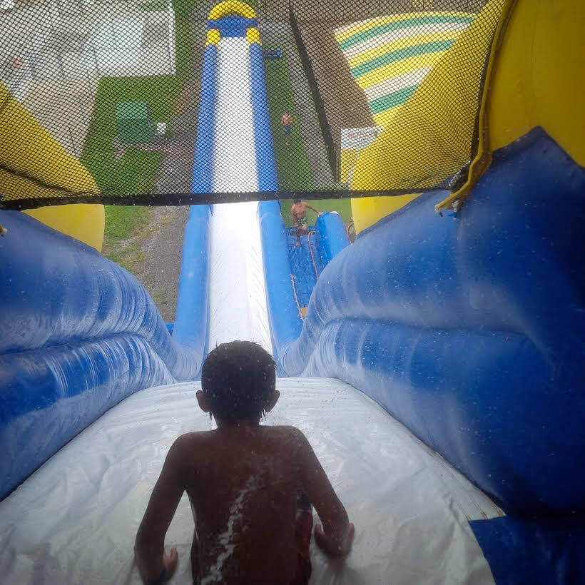 Water slide view from the top.